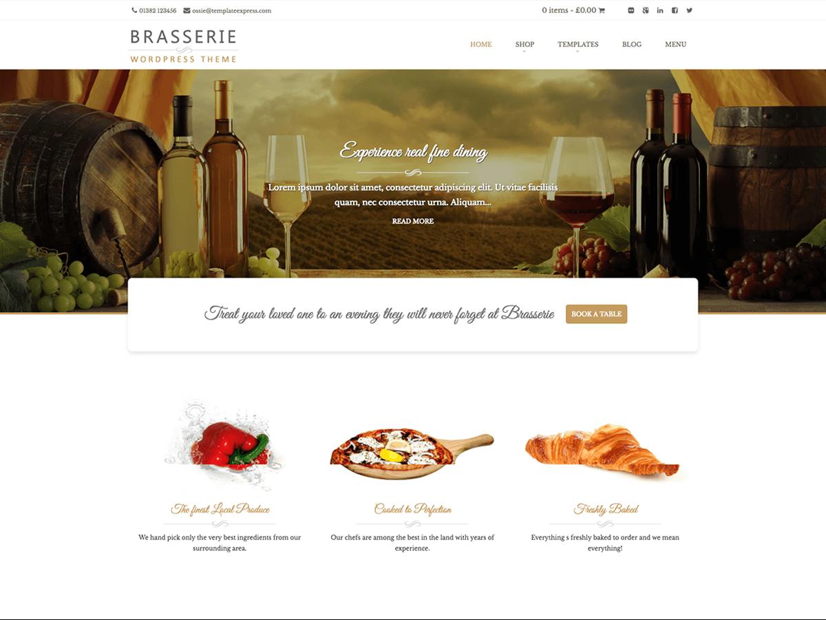 Brasserie Download Free Wordpress Theme 5