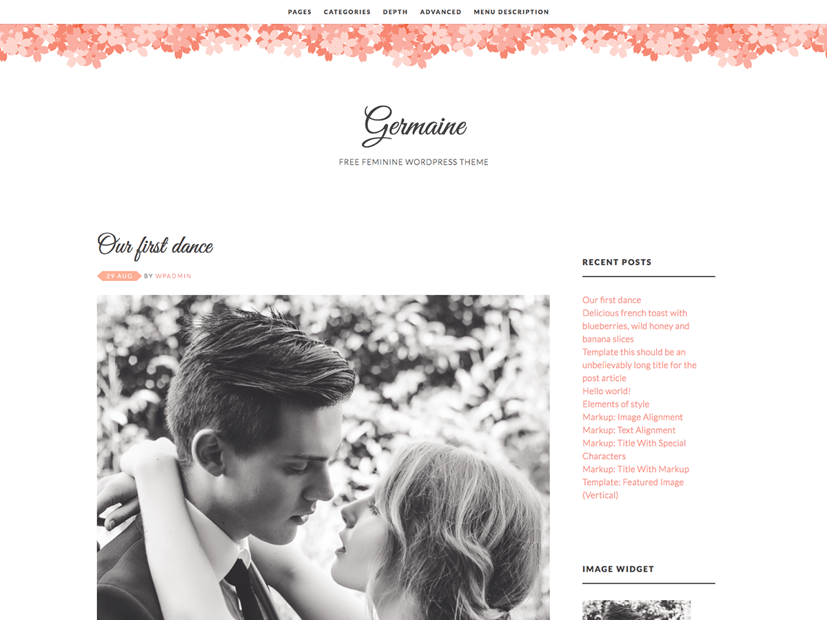 Germaine Download Free Wordpress Theme 5