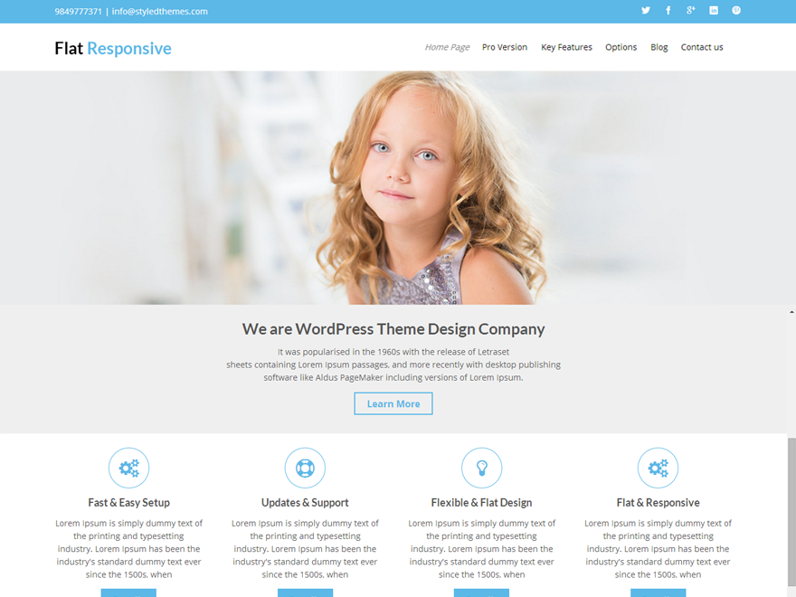 Flat Responsive Download Free Wordpress Theme 3