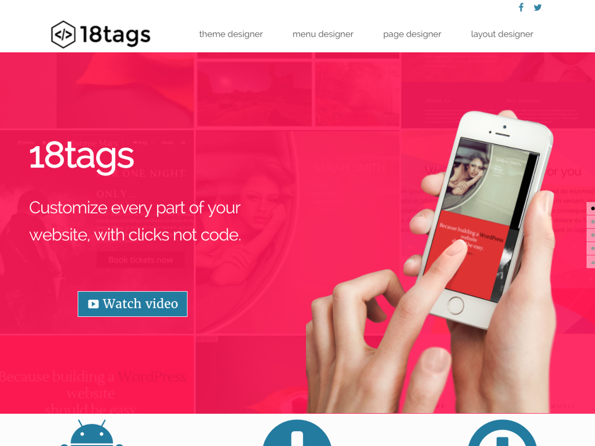 Eighteen tags Download Free Wordpress Theme 2