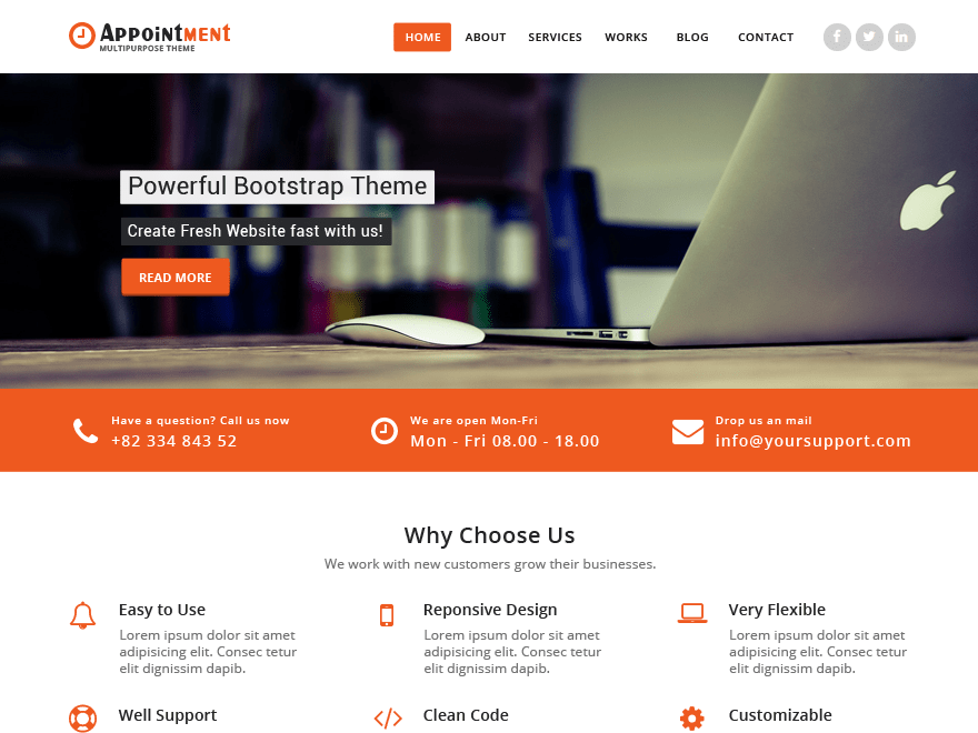 Appointment Download Free Wordpress Theme 3