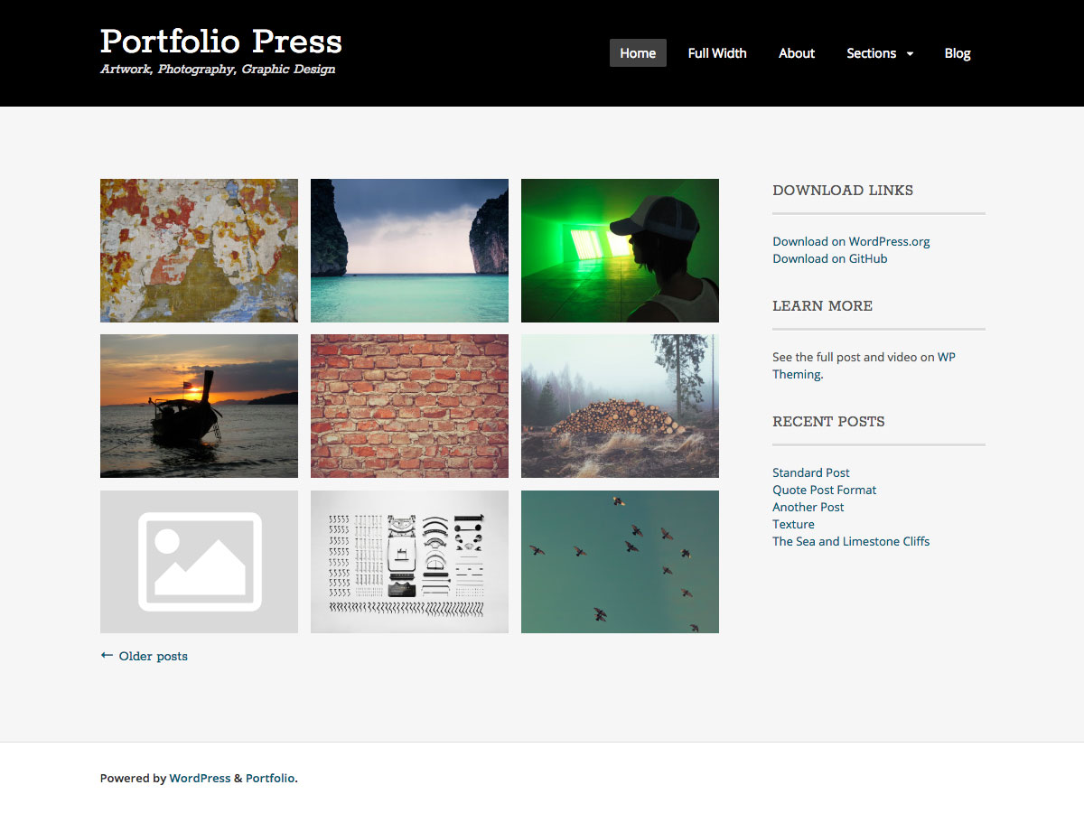 Portfolio Press Download Free Wordpress Theme 3
