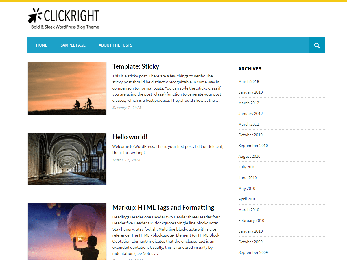 Clickright Lite Download Free Wordpress Theme 2