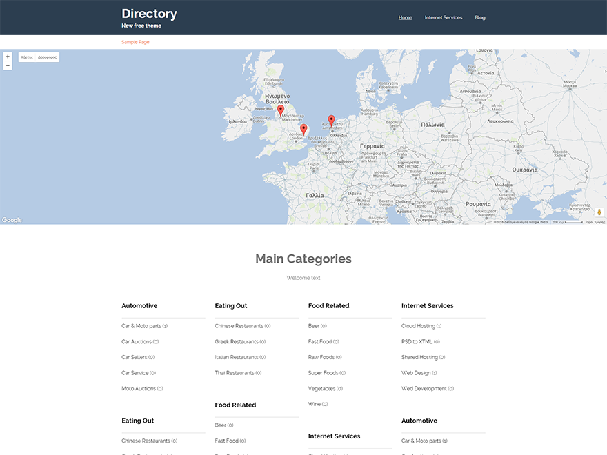 Directory Download Free Wordpress Theme 1