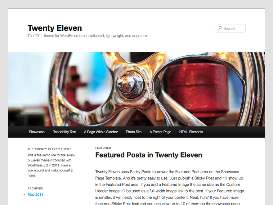 Twenty Eleven Download Free Wordpress Theme 1