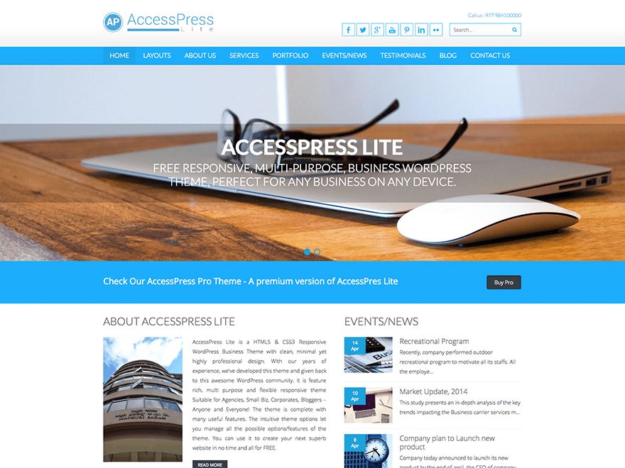 Accesspress Lite Download Free Wordpress Theme 4