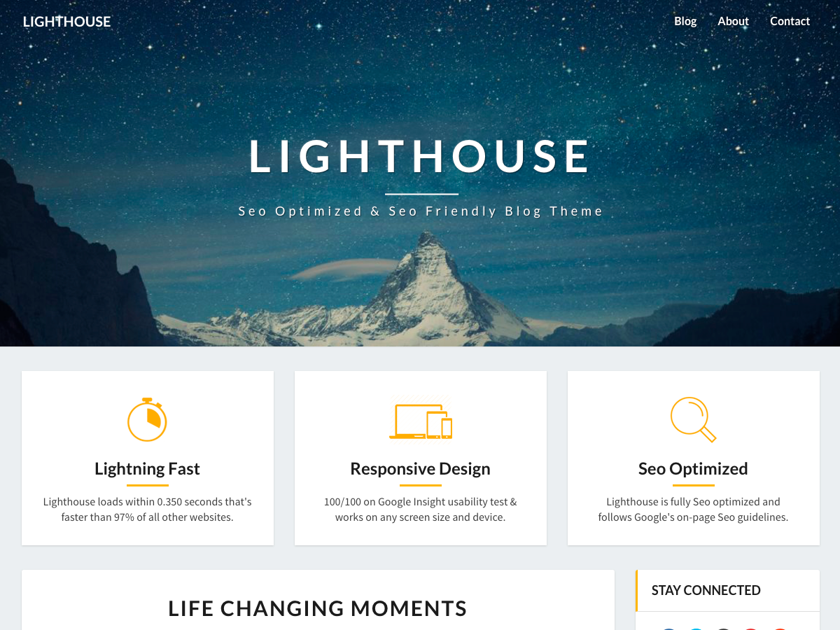 Lighthouse Download Free Wordpress Theme 3