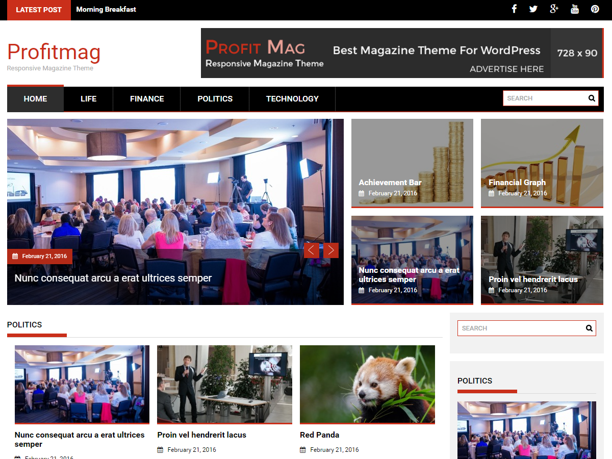 ProfitMag Download Free Wordpress Theme 2