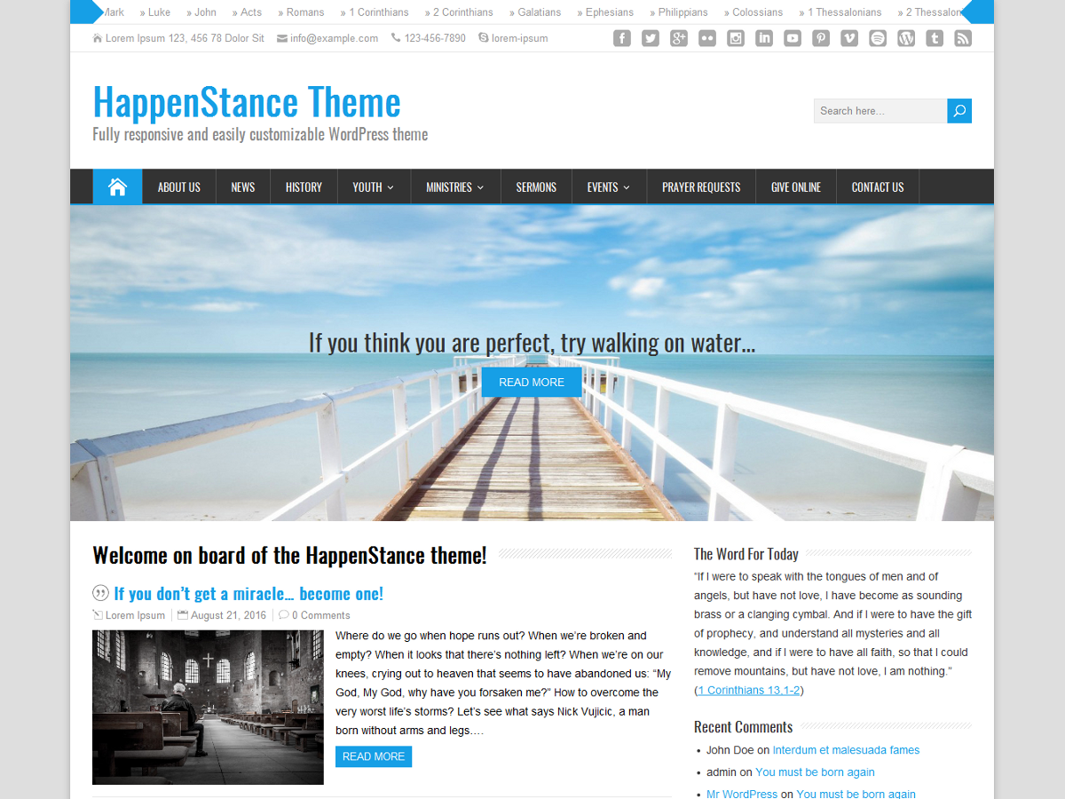 HappenStance Download Free Wordpress Theme 4