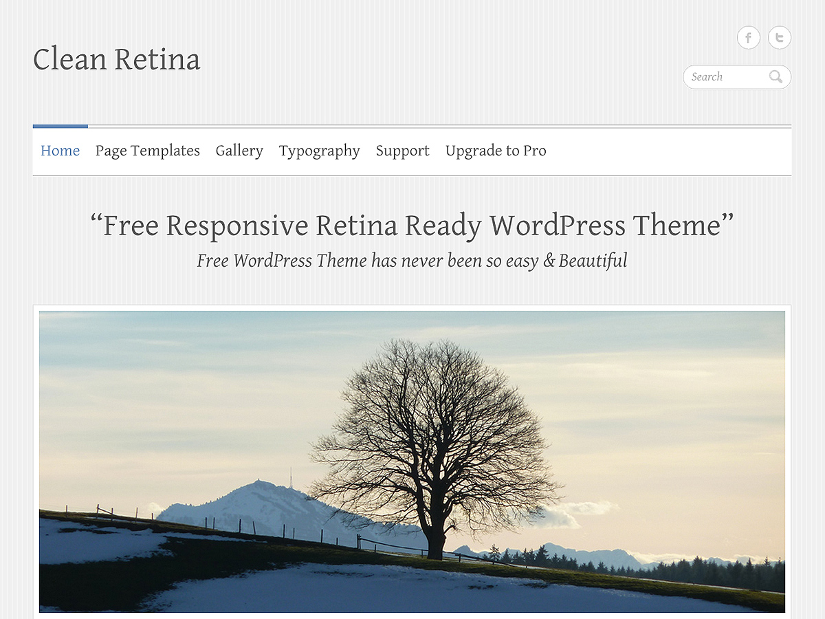 Clean Retina Download Free Wordpress Theme 1