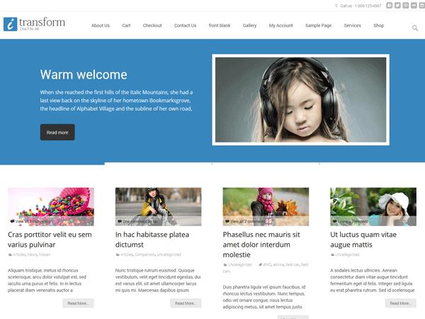i-transform Download Free Wordpress Theme 2