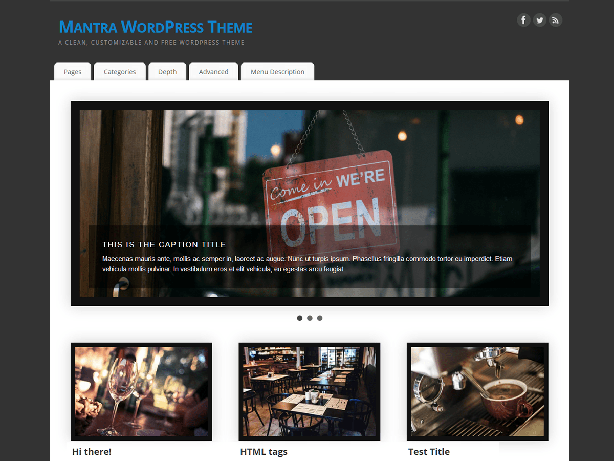 Mantra Download Free Wordpress Theme 1