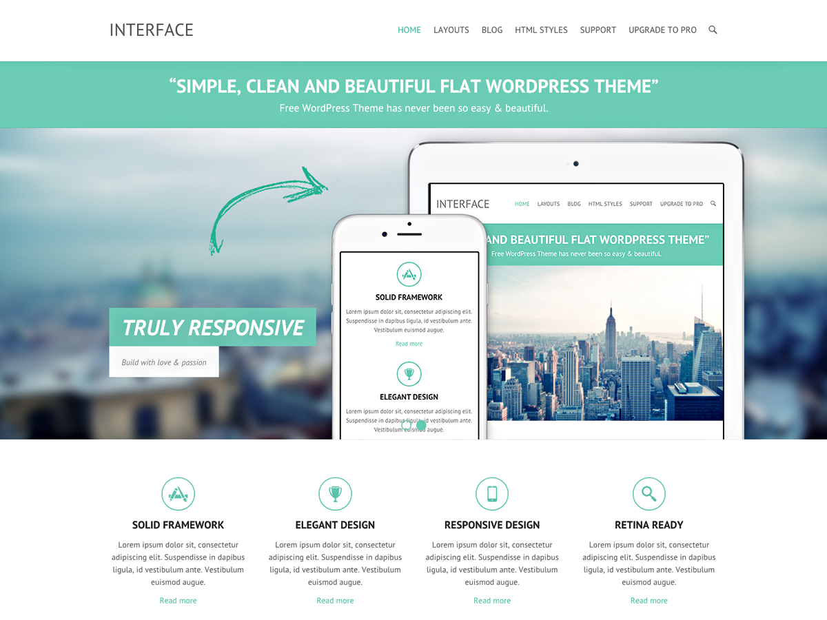 Interface Download Free Wordpress Theme 2