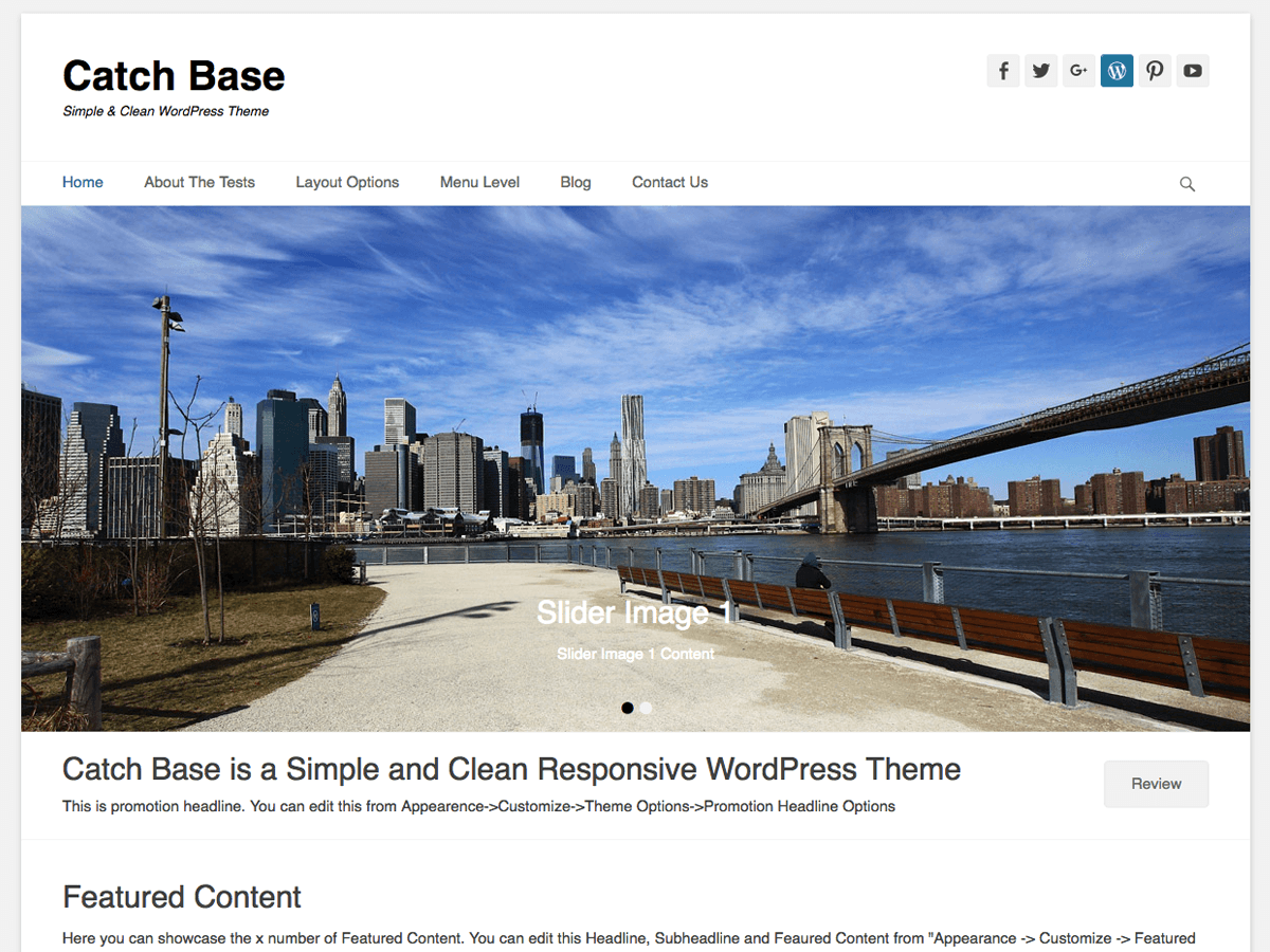 Catch Base Download Free Wordpress Theme 1
