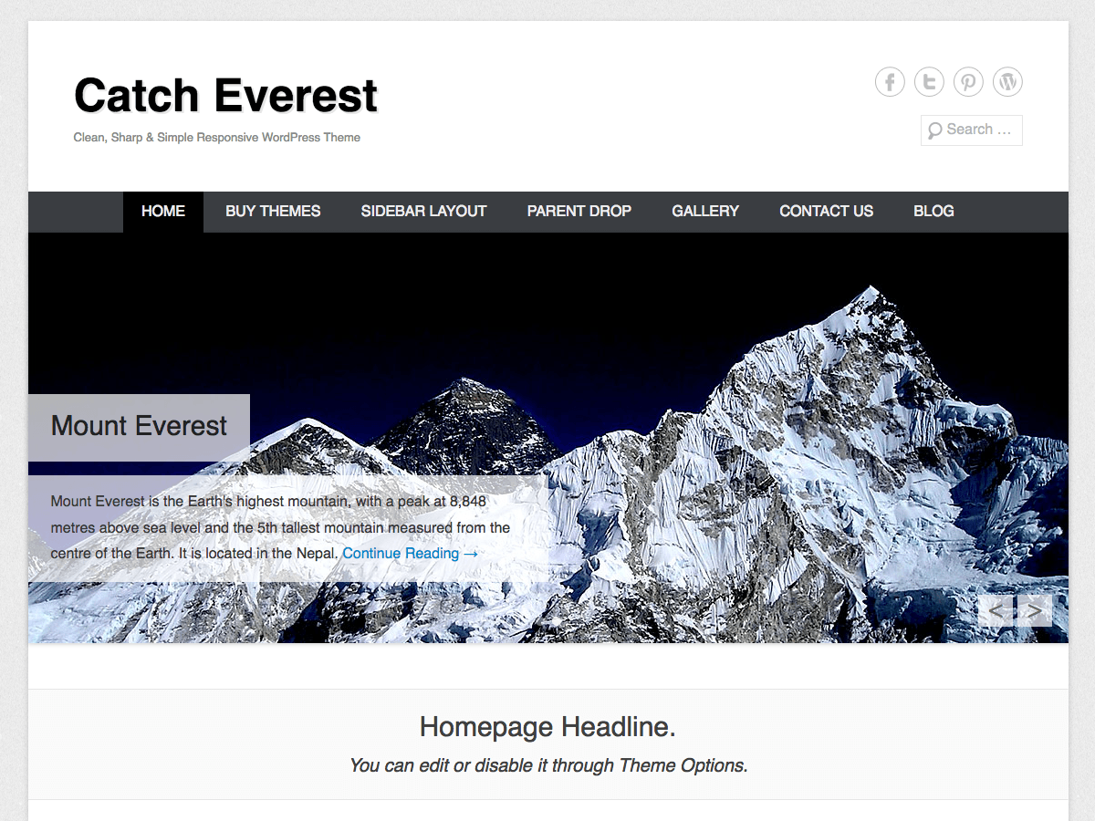 Catch Everest Download Free Wordpress Theme 2