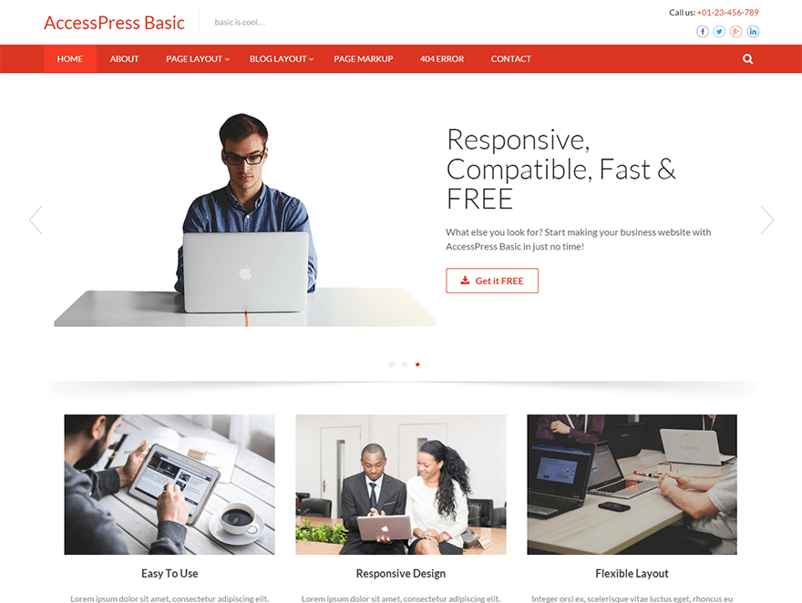 Accesspress Basic Download Free Wordpress Theme 3