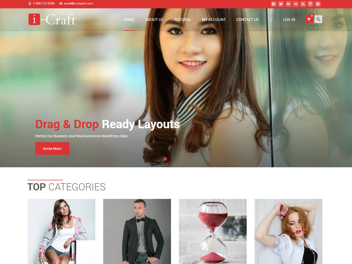 i-craft Download Free Wordpress Theme 2