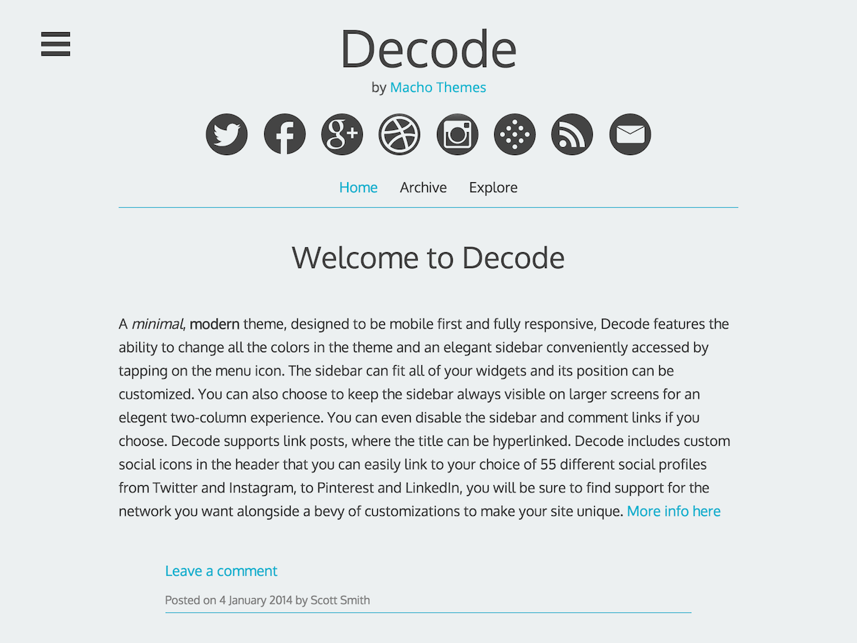 Decode Download Free Wordpress Theme 5