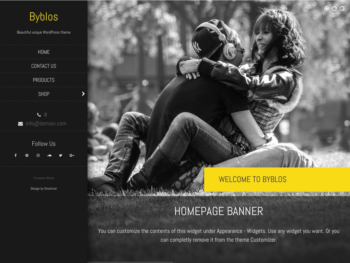 Byblos Download Free Wordpress Theme 2