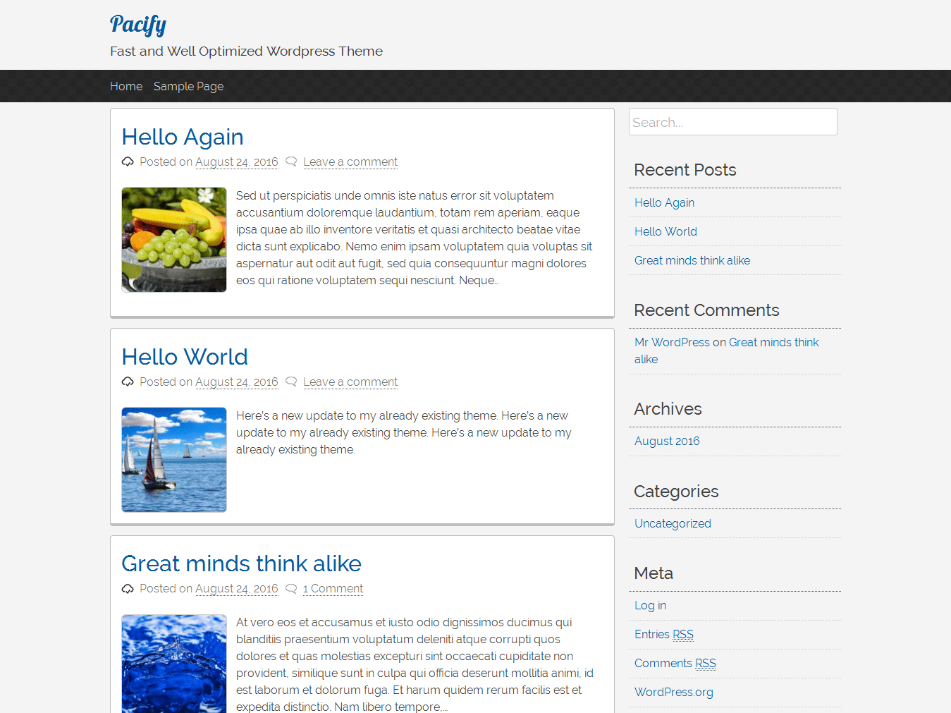 pacify Download Free Wordpress Theme 5