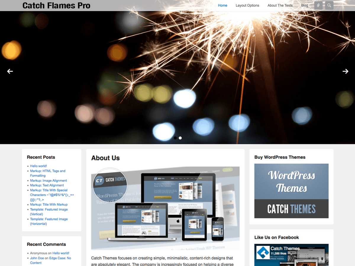 Catch Flames Download Free Wordpress Theme 1