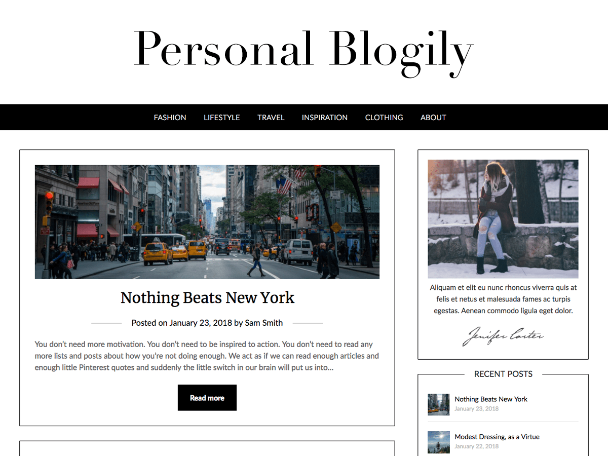 Personalblogily Download Free Wordpress Theme 2