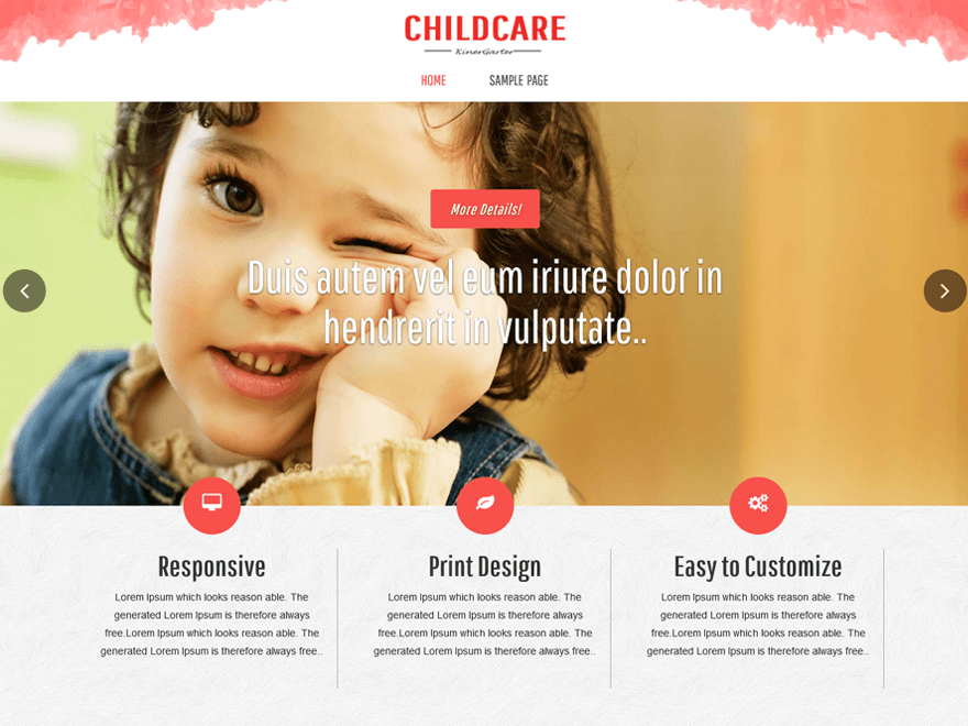 childcare Download Free Wordpress Theme 2