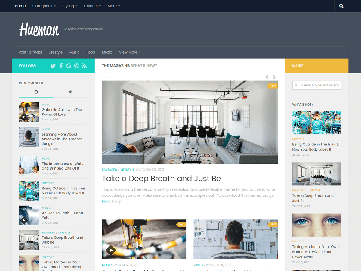 Hueman Download Free Wordpress Theme 2