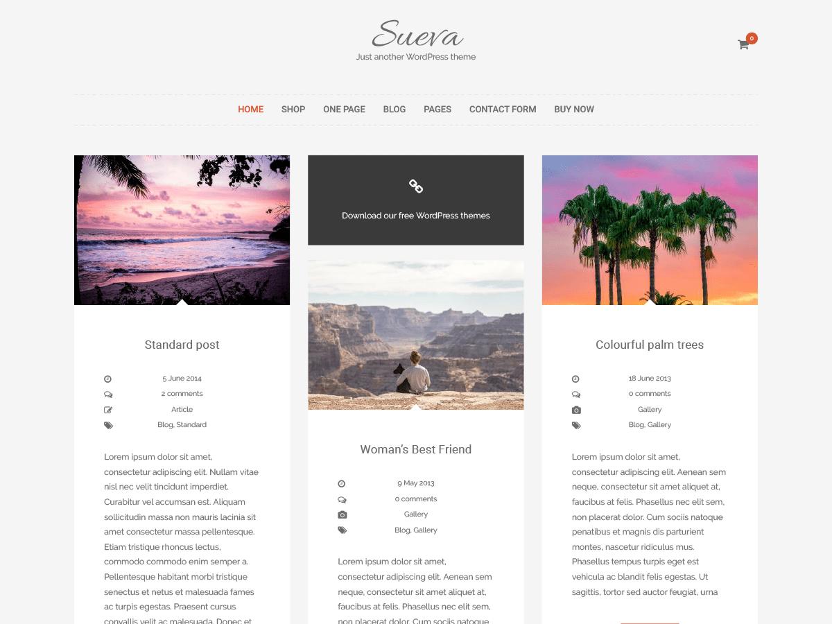 SuevaFree Download Free Wordpress Theme 3