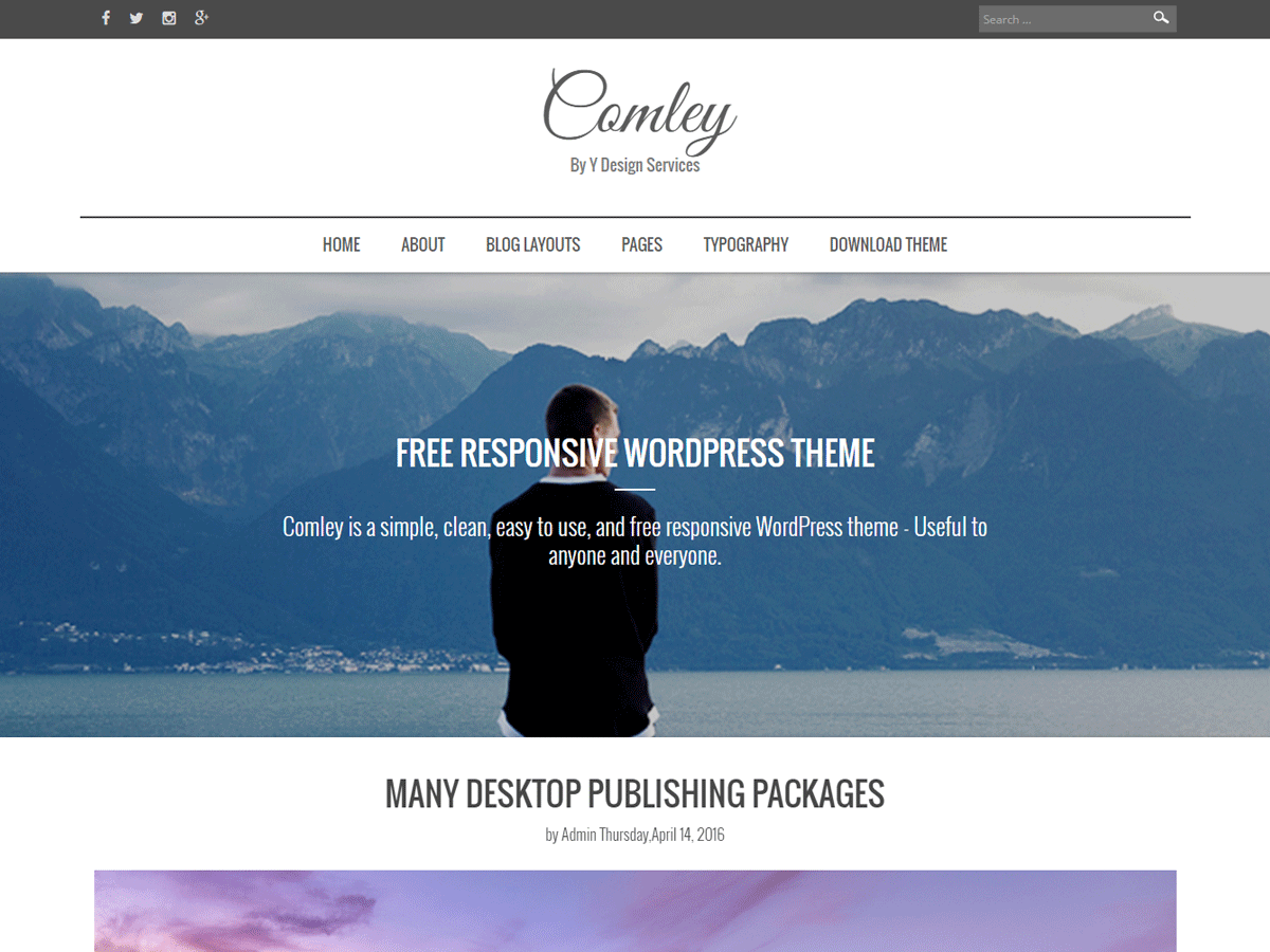Comley Download Free Wordpress Theme 2