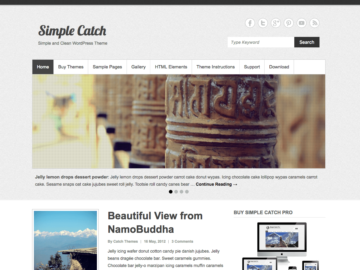 Simple Catch Download Free Wordpress Theme 1