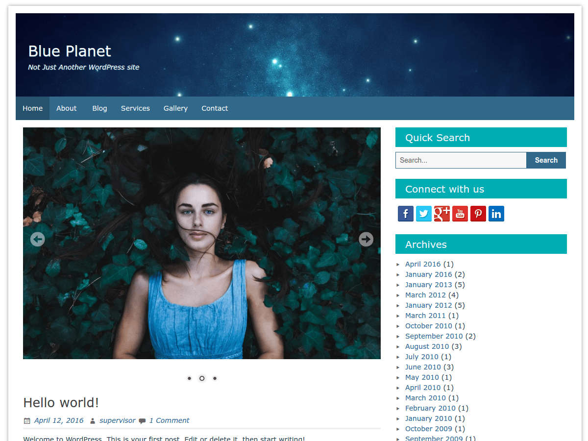 Blue Planet Download Free Wordpress Theme 4
