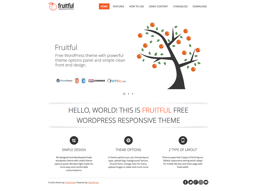 Fruitful Download Free Wordpress Theme 1