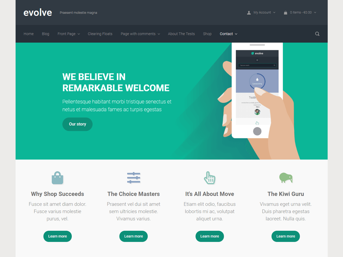 evolve Download Free Wordpress Theme 2