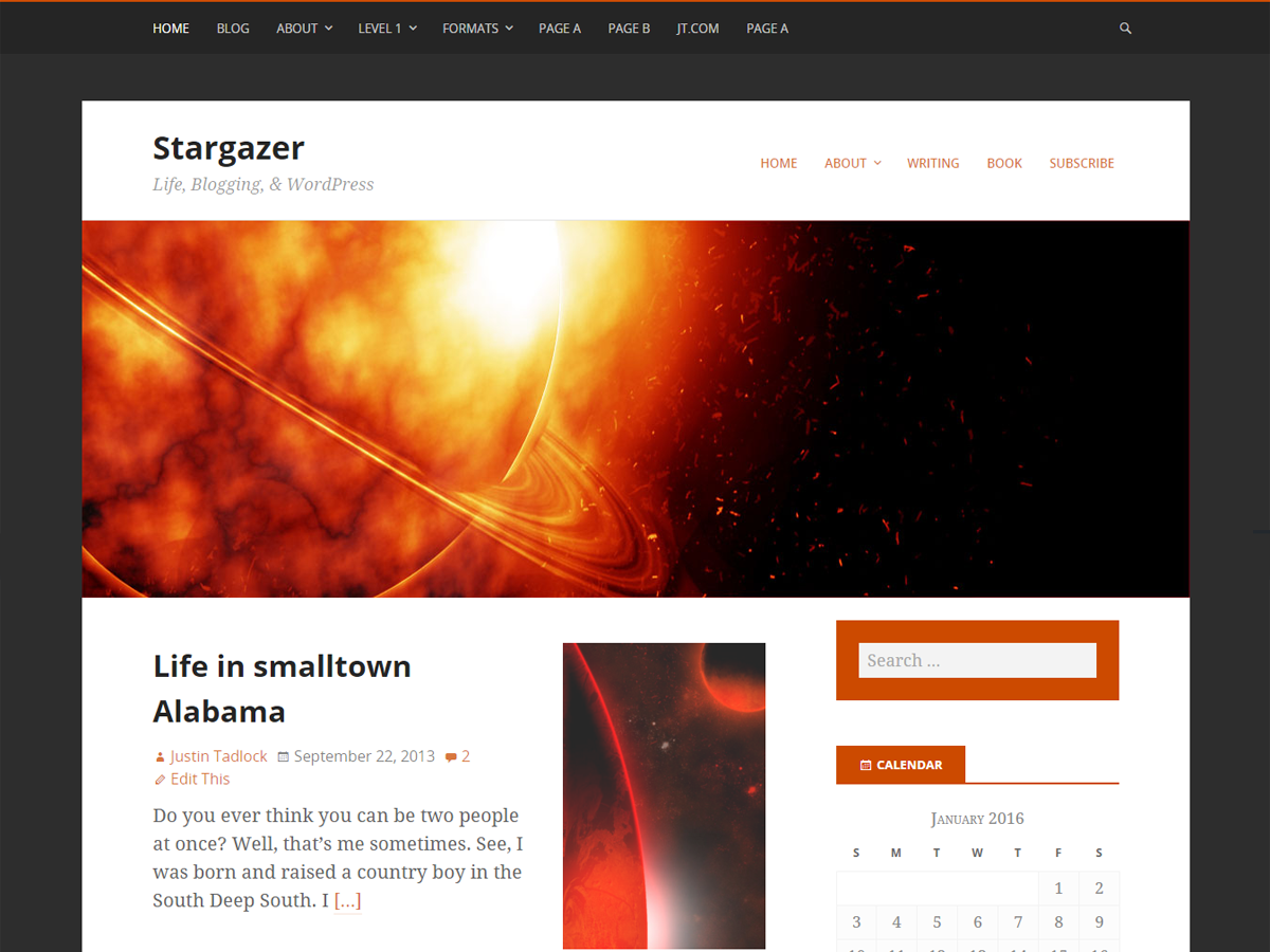 Stargazer Download Free Wordpress Theme 2