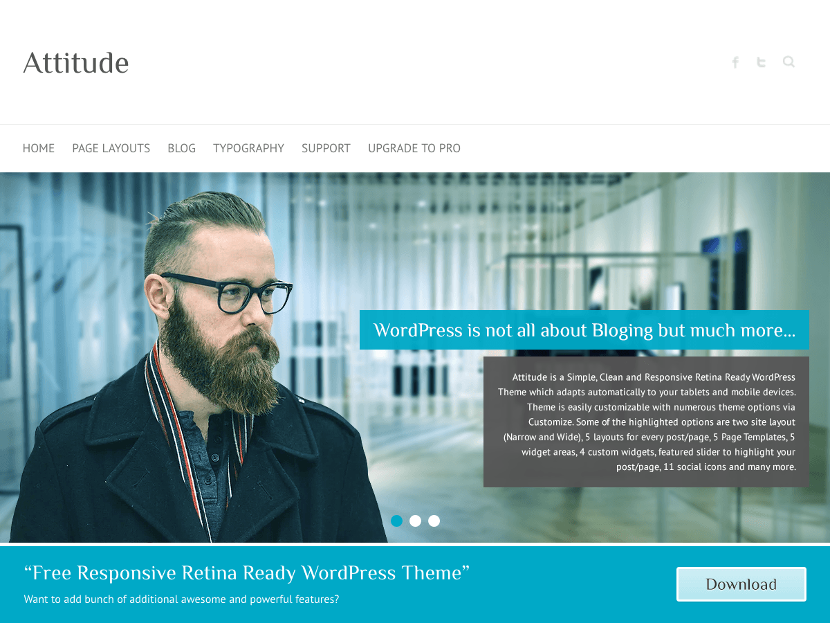 Attitude Download Free Wordpress Theme 1