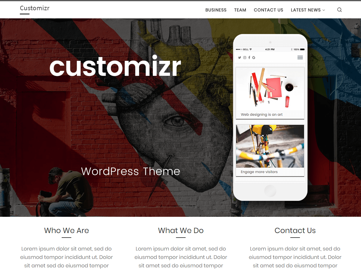 Customizr Download Free Wordpress Theme 3