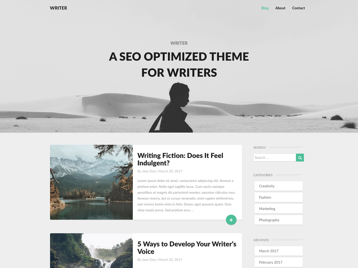 Writers Download Free Wordpress Theme 4