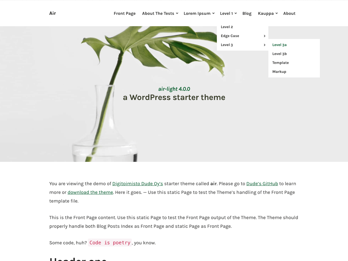 Air-light Download Free Wordpress Theme 2