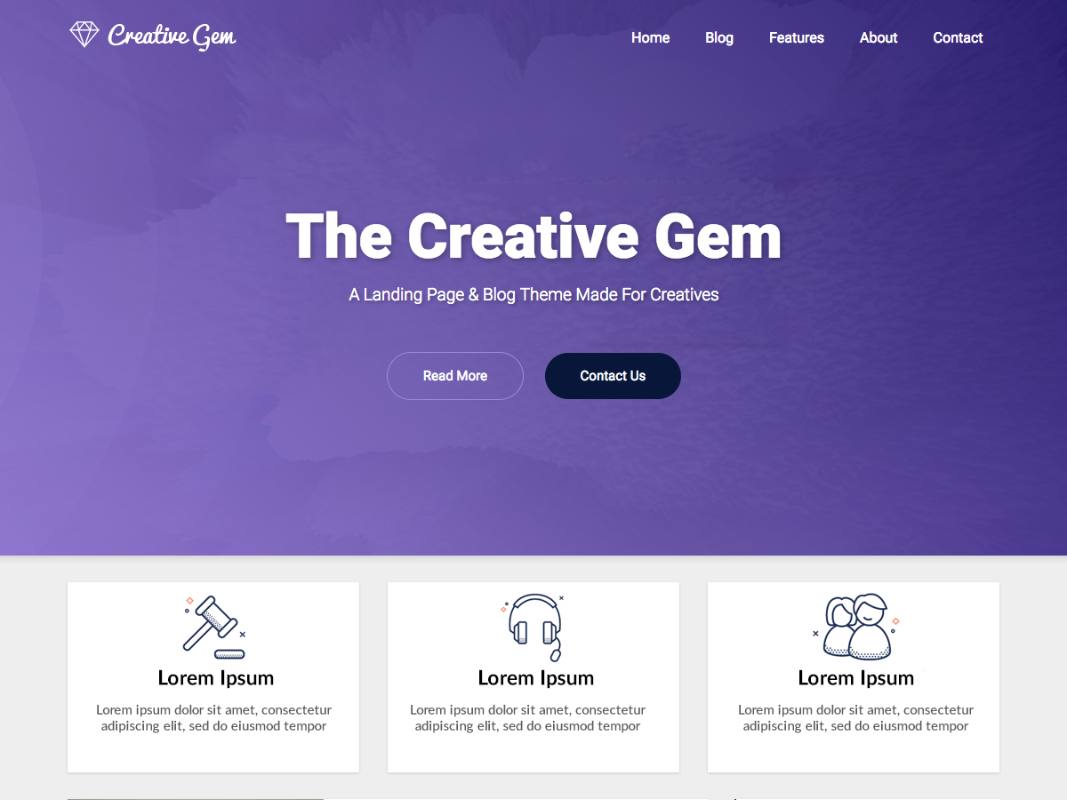 Creative Gem Download Free Wordpress Theme 4