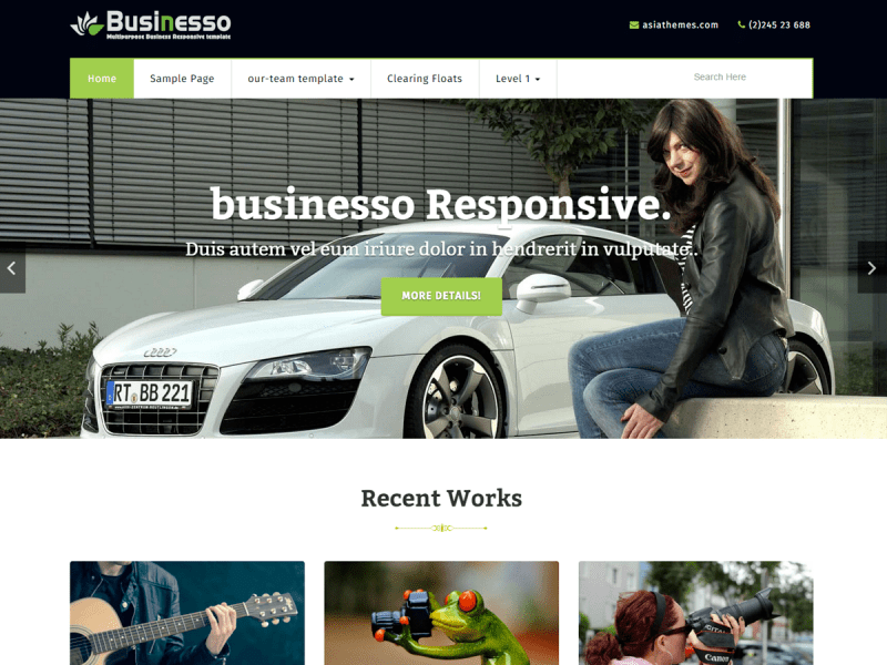 businesso Download Free Wordpress Theme 4