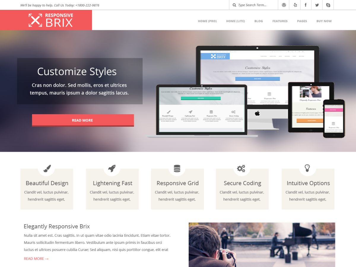 Responsive Brix Download Free Wordpress Theme 4