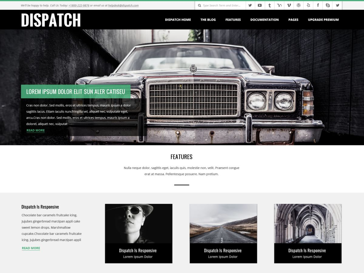 Dispatch Download Free Wordpress Theme 1
