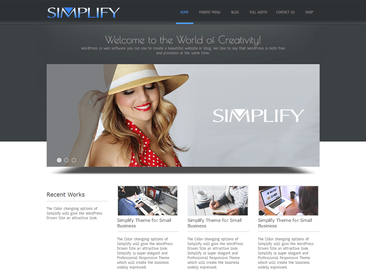 Simplify Download Free Wordpress Theme 2