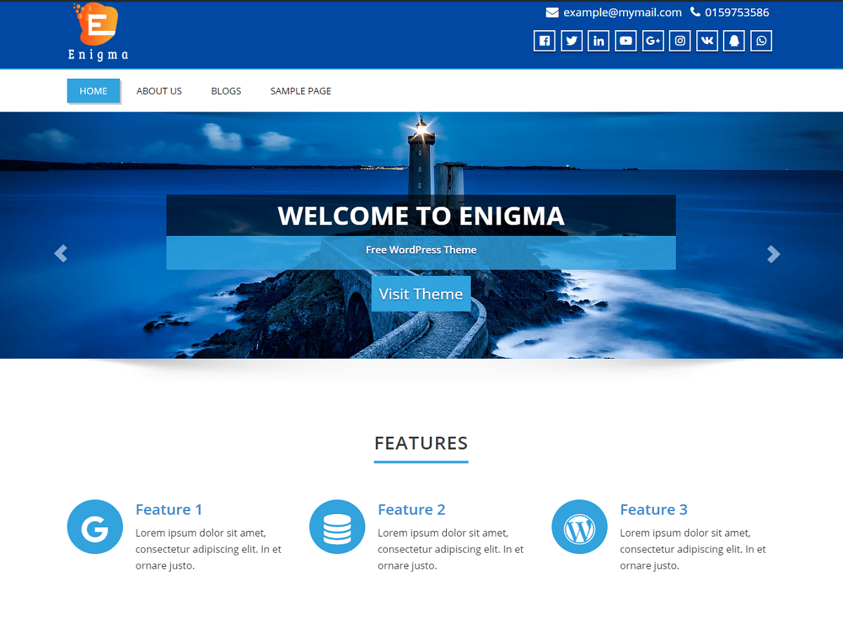 Enigma Download Free Wordpress Theme 3