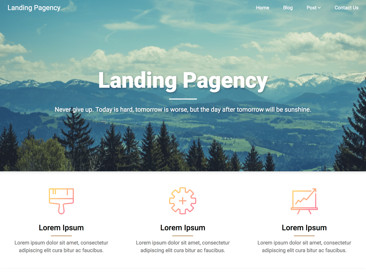 Landing Pagency Download Free Wordpress Theme 3