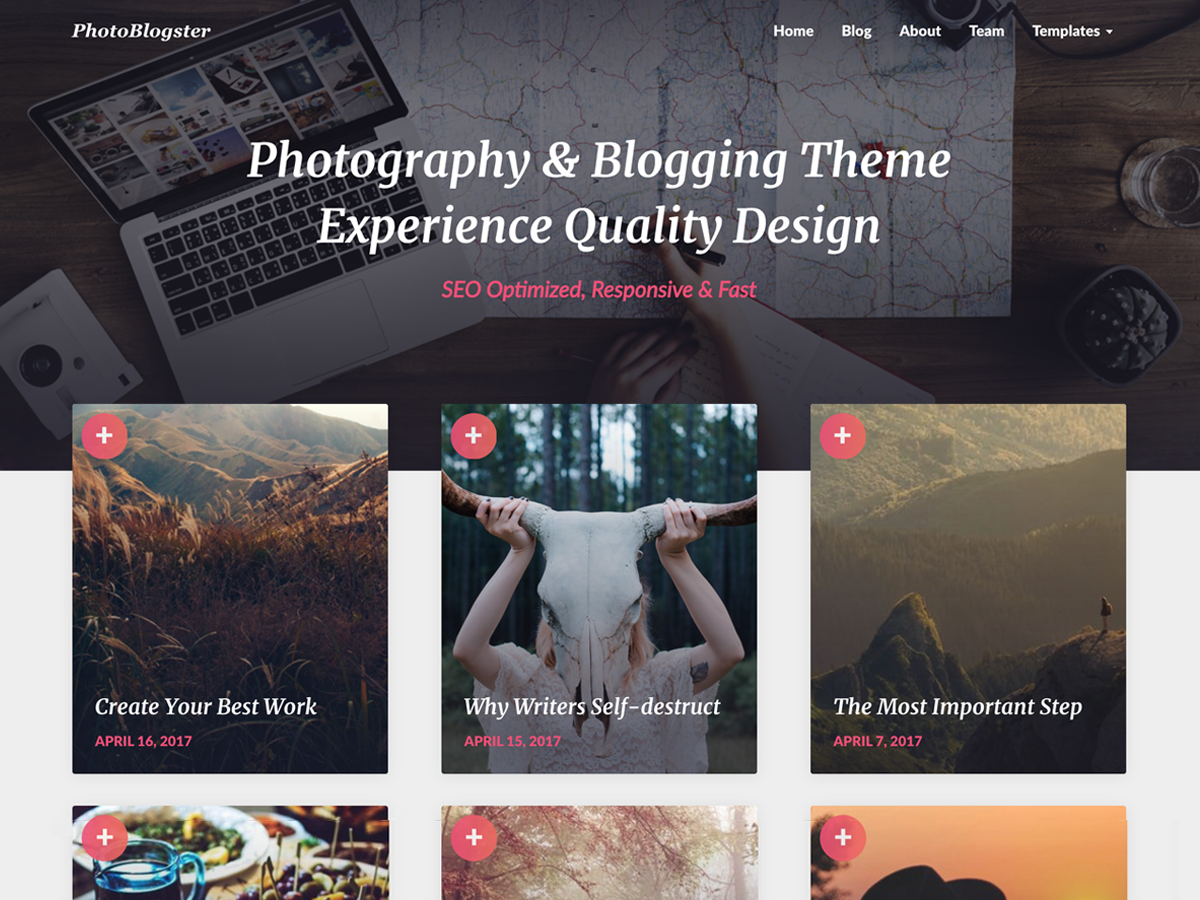 PhotoBlogster Download Free Wordpress Theme 3