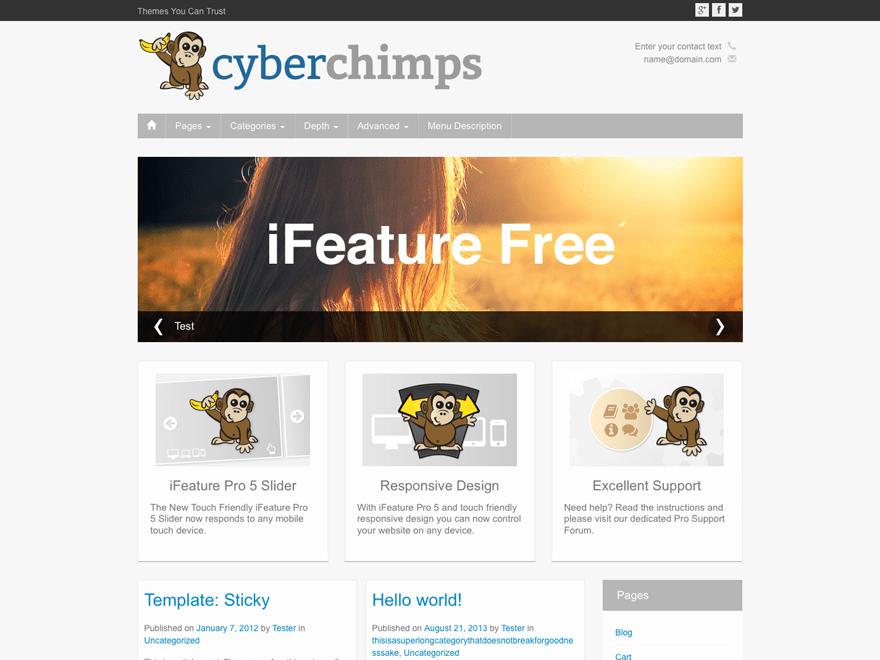 iFeature Download Free Wordpress Theme 2